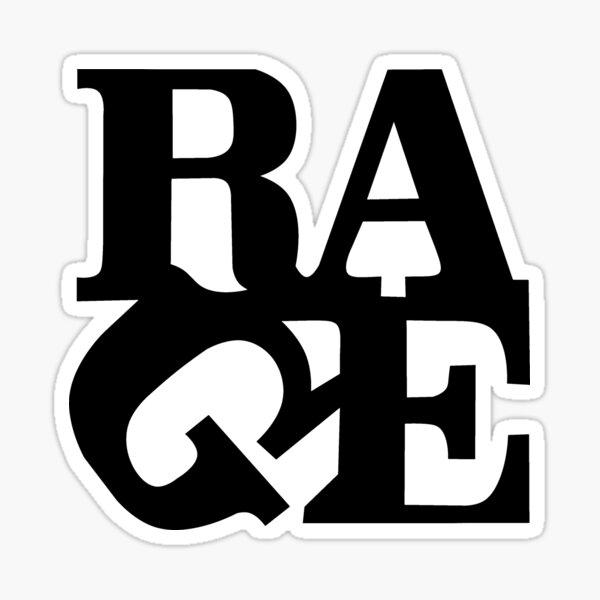 Rage' black typographic quote word design T-Shirt Sticker