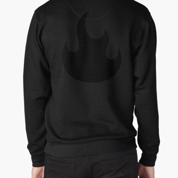 Blazing Black Flames Pullover Sweatshirt