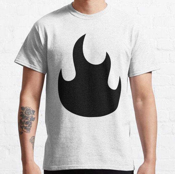 Blazing Black Flames Classic T-Shirt
