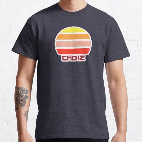 Retro Vintage Sunset Cadiz Spain Souvenir Classic T-Shirt