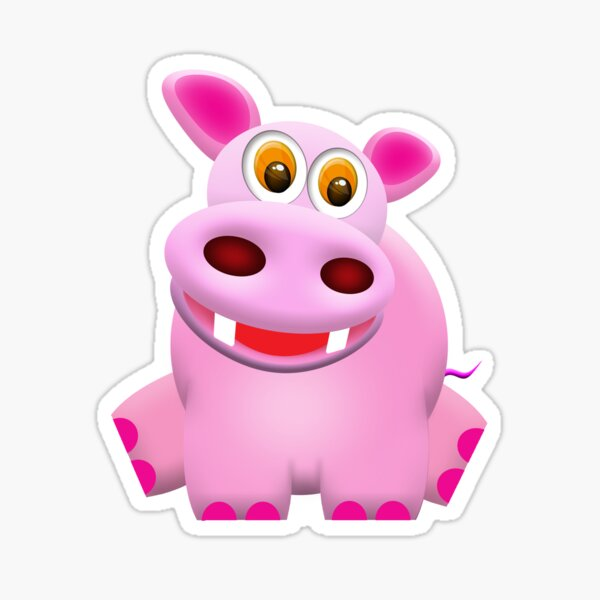 Hippo Sticker