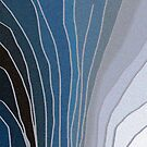 Flowing Blue Shapes by Betty Mackey