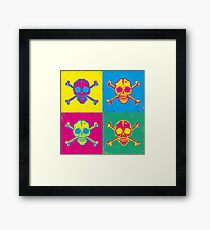 bright color skulls Framed Print