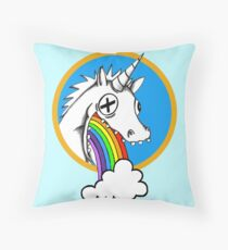 Drunk Unicorns Make Rainbows! Throw Pillow