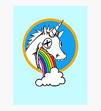 Drunk Unicorns Make Rainbows! Photographic Print