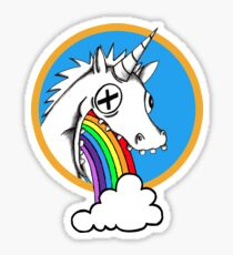 Drunk Unicorns Make Rainbows! Sticker