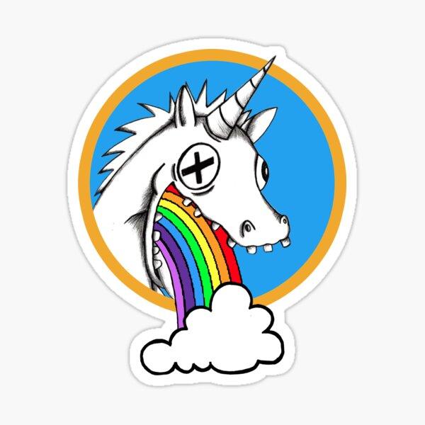 Drunk Unicorns Make Rainbows! Sticker