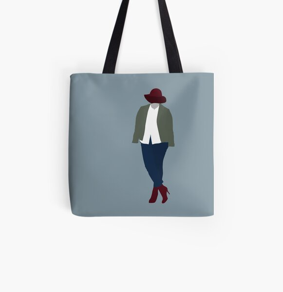 Plus Size Halloween - Invisible Woman All Over Print Tote Bag