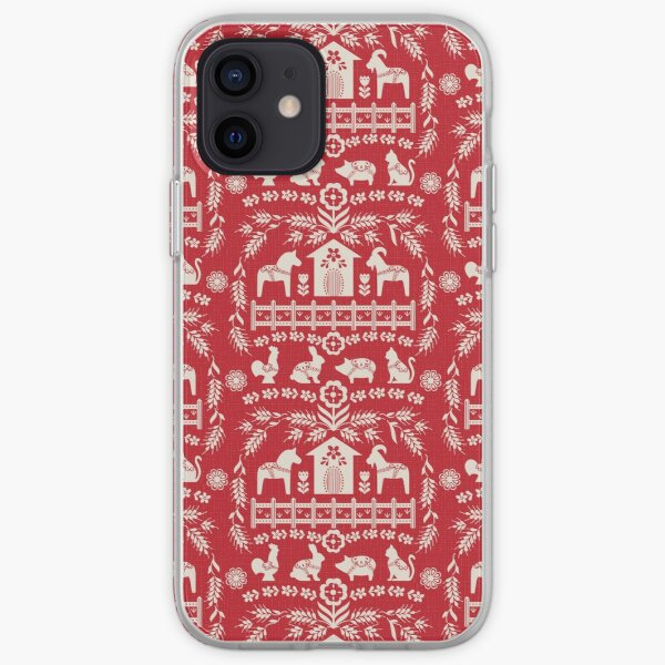 Dala Farm in Red iPhone Soft Case