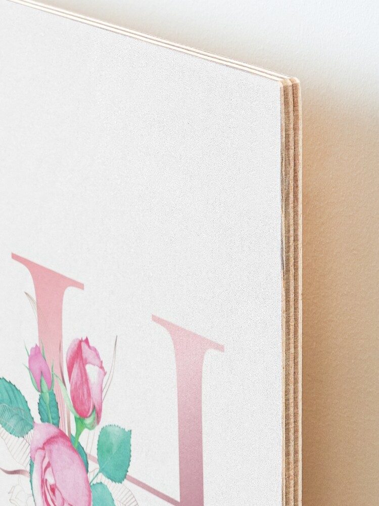 Alternate view of Rose gold letter H Mounted Print