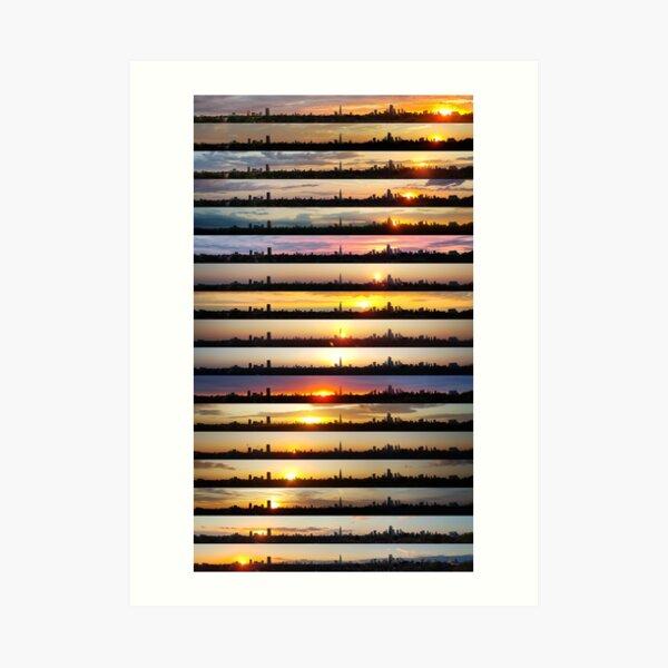 London Sunsets 002: Reflect Art Print