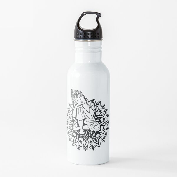 Mandala Buddha Love Spritirual believe in yourself Water Bottle