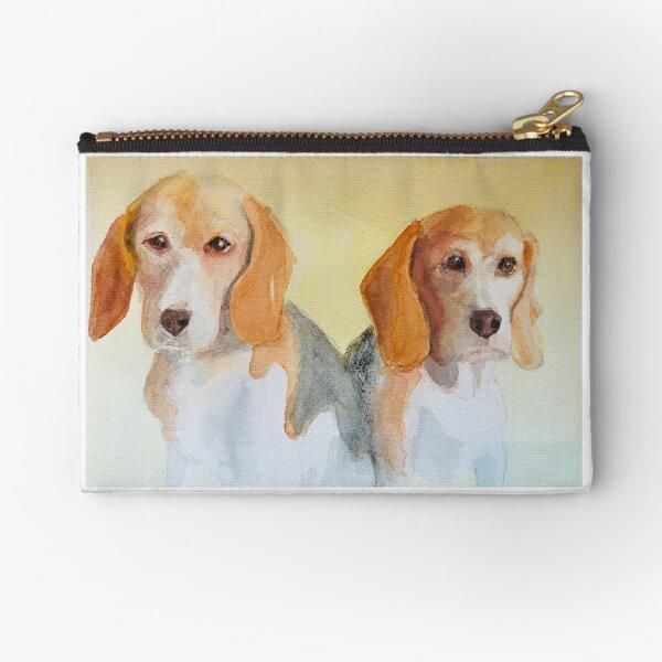 Beagle Siblings Zipper Pouch