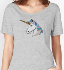 holographic rainbow unicorn Women's Relaxed Fit T-Shirt