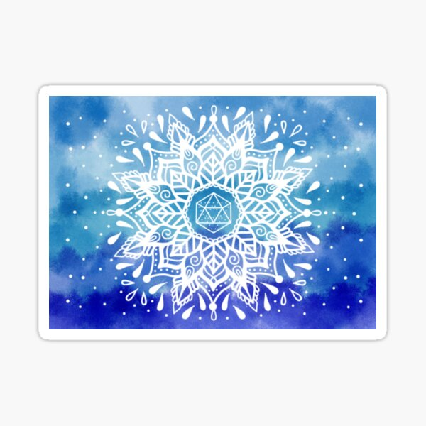 Mandala Wasser Element Erde Aquarell Water Sticker