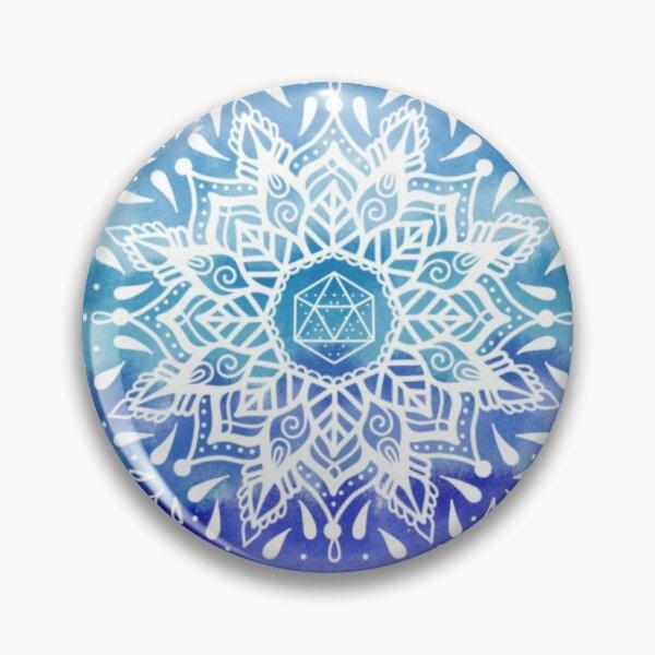 Mandala Wasser Element Erde Aquarell Water Pin