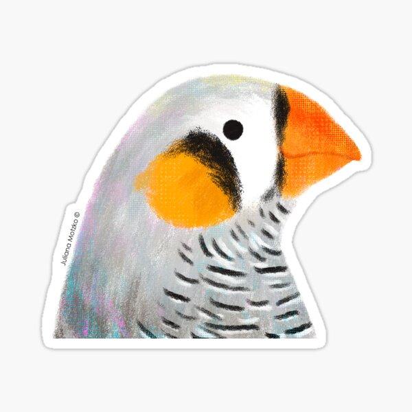 Zebra Finch Bird Sticker