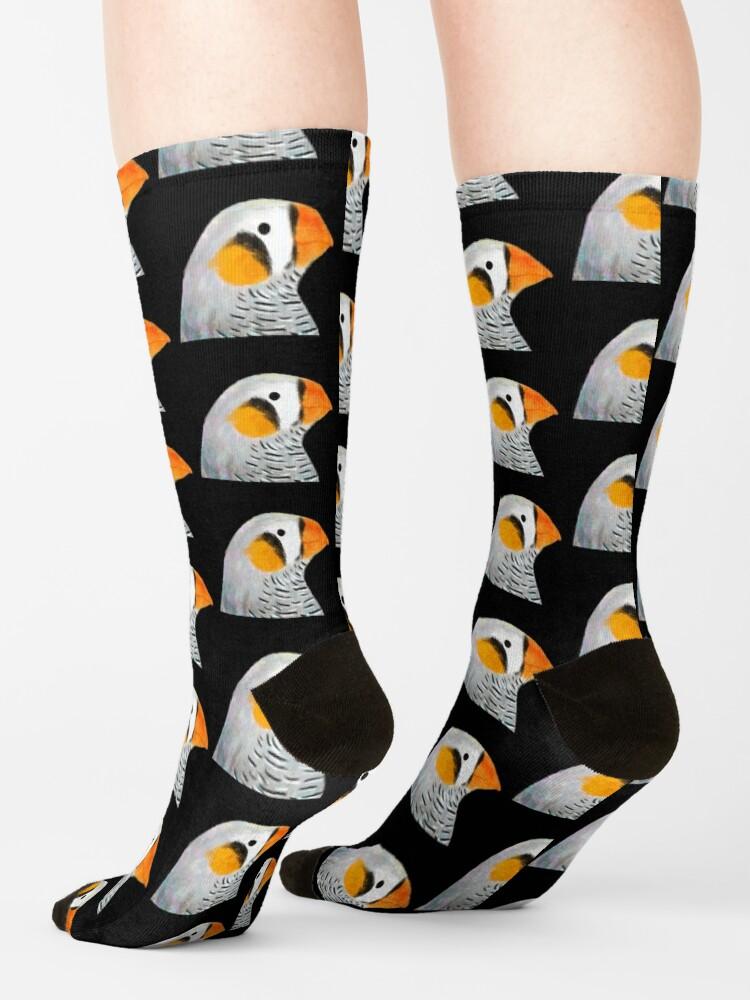 Alternate view of Zebra Finch Bird Socks