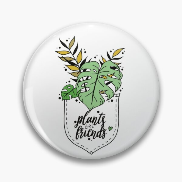 plants are friends Lettering floral illustration for monster lovers Pin