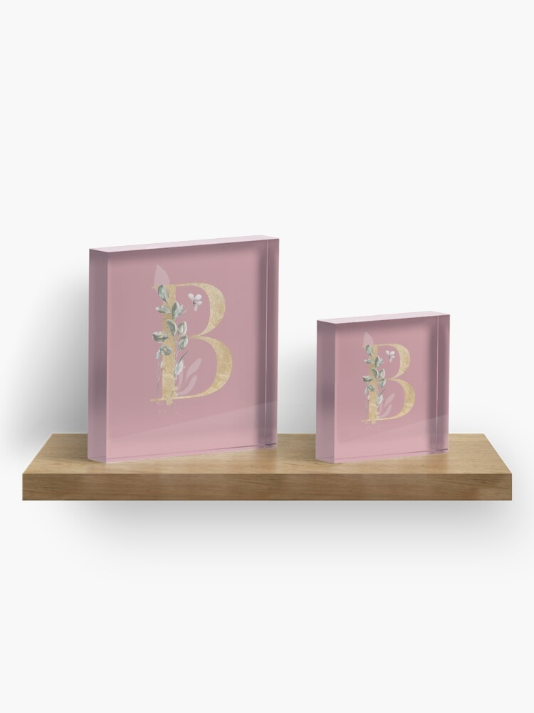 Alternate view of Vintage letter B Acrylic Block