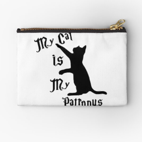 MY CAT IS MY PATRONUS Zipper Pouch