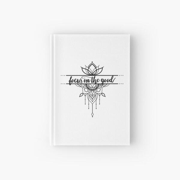 focus on the good lettering ornament lotus flower Hardcover Journal