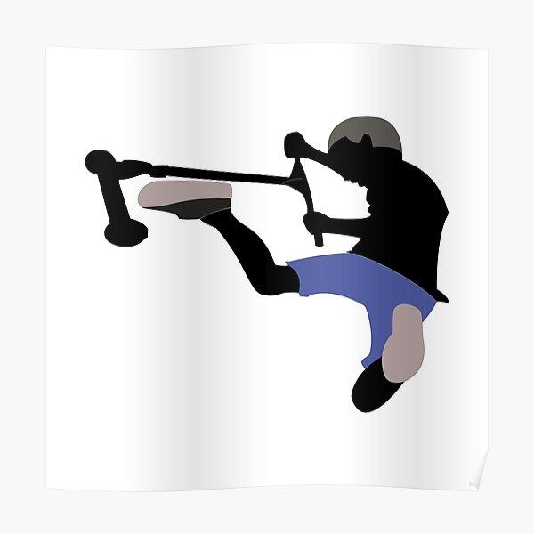Stunt Scooter Fahrer Poster