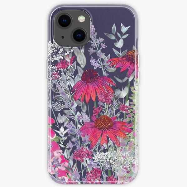Pink Flower Garden - Echinacea Flowers, Foxgloves & Ammi iPhone Soft Case
