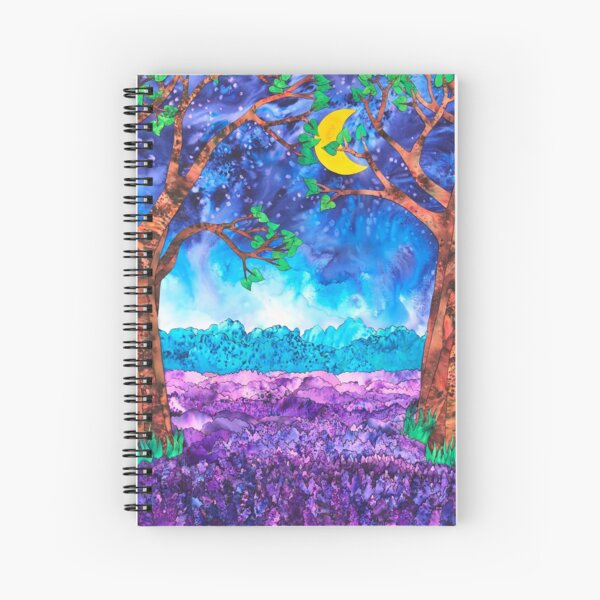 Lavender in the Moonlight  Spiral Notebook