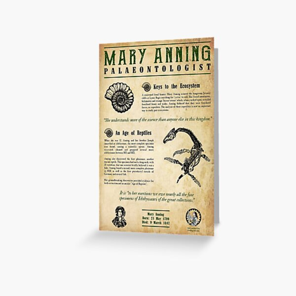 Mary Anning: Palaeontologist Greeting Card