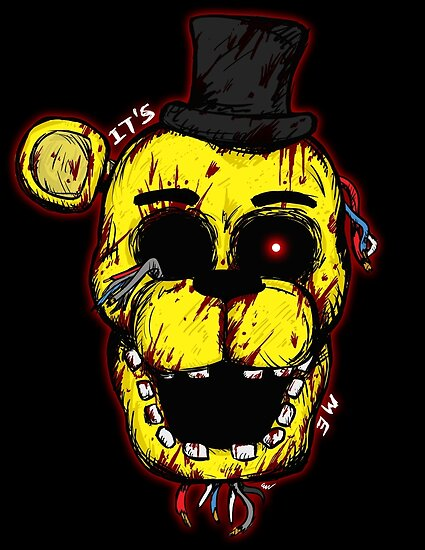 Bloody Golden Freddy FNAF By Moosegod