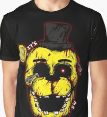 Bloody Golden Freddy FNAF Graphic T-Shirt
