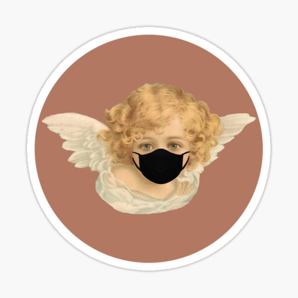Baby Angel with Mask Sticker