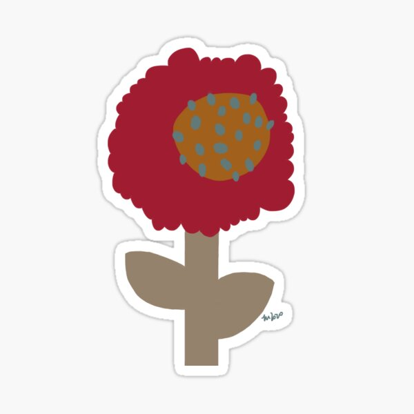 Floral drawing of a whimsical little flower. digital drawing Sticker