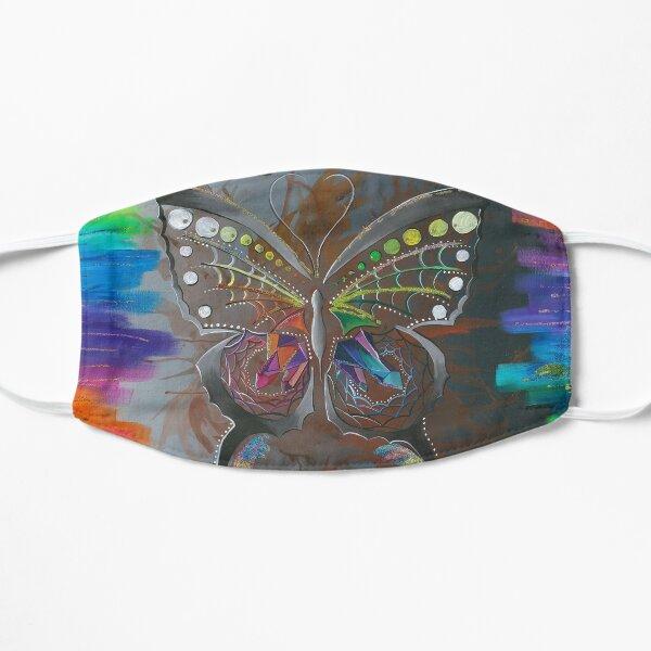 ᑲ ᒫ ᒪ ᐠ kamâmak- the butterfly Flat Mask