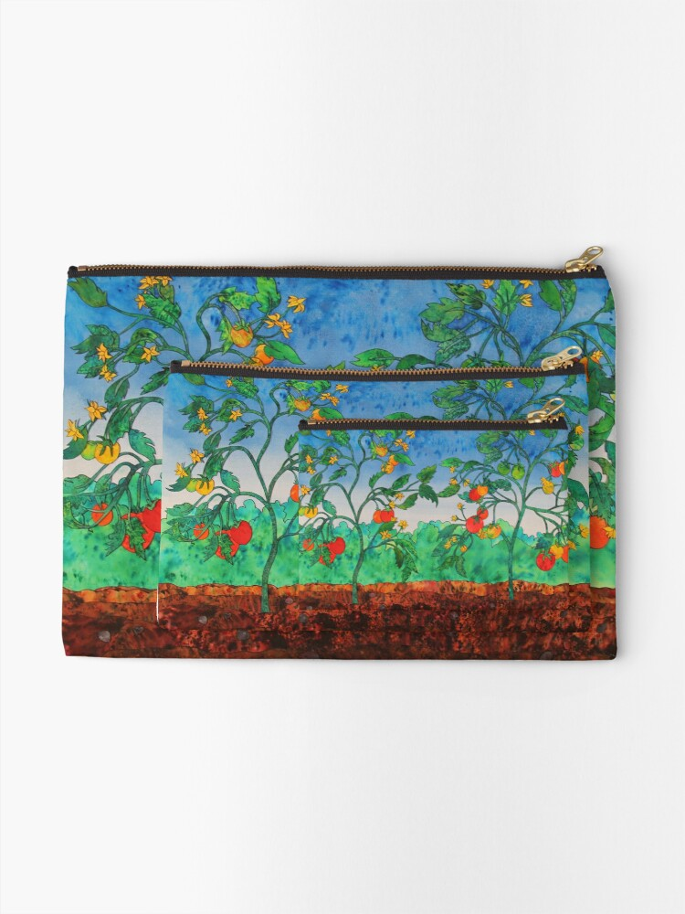 Alternate view of Summertime Tomatoes Zipper Pouch