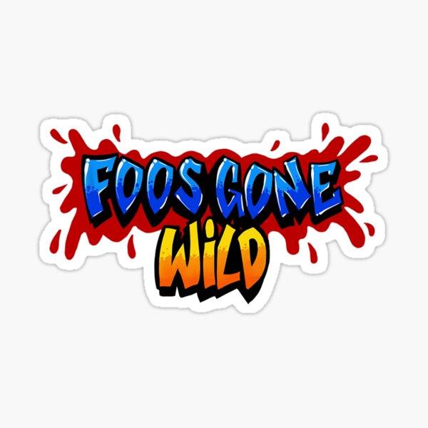 Foos Gone Wild - Logo Sticker