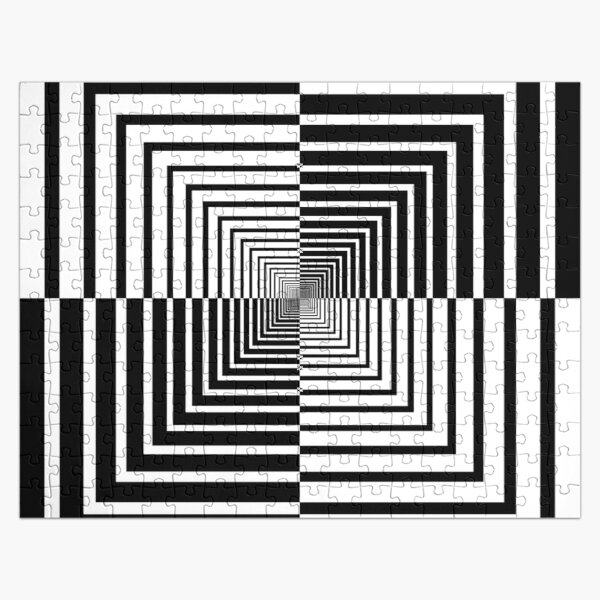 Squares, Op art, short for optical art, is a style of visual art that uses optical illusions Jigsaw Puzzle