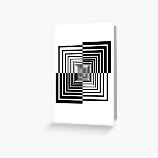 Squares, Op art, short for optical art, is a style of visual art that uses optical illusions Greeting Card