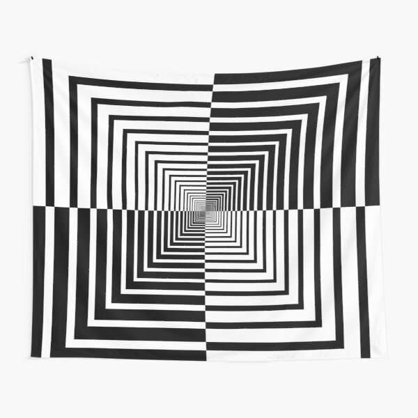 Squares, Op art, short for optical art, is a style of visual art that uses optical illusions Tapestry