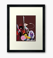 Steven Universe Meets Pokemon Framed Print
