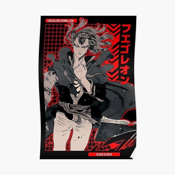 Black Clover Fuegoleon Vermilion HD Print Canvas Wall Poster Scroll Room Decor