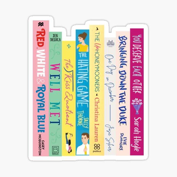 Romance Book Stack Sticker