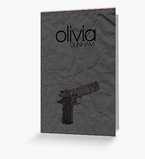 Fringe minimalist poster, Olivia Dunham (alternate universe) Greeting Card