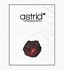 Fringe minimalist poster, Astrid Farnsworth Photographic Print