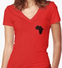Africa Women's Fitted V-Neck T-Shirt