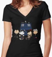 The Doctor is in... Women's Fitted V-Neck T-Shirt