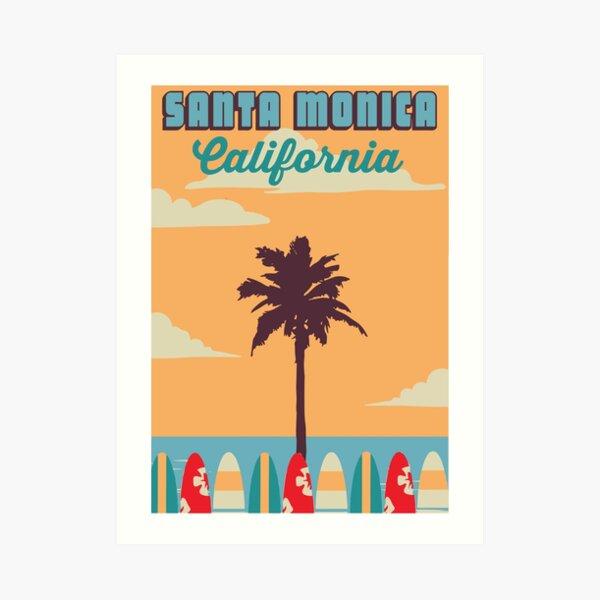 Santa Monica - California.  Art Print