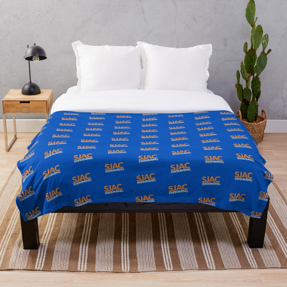 SJAC Pattern Royal Throw Blanket