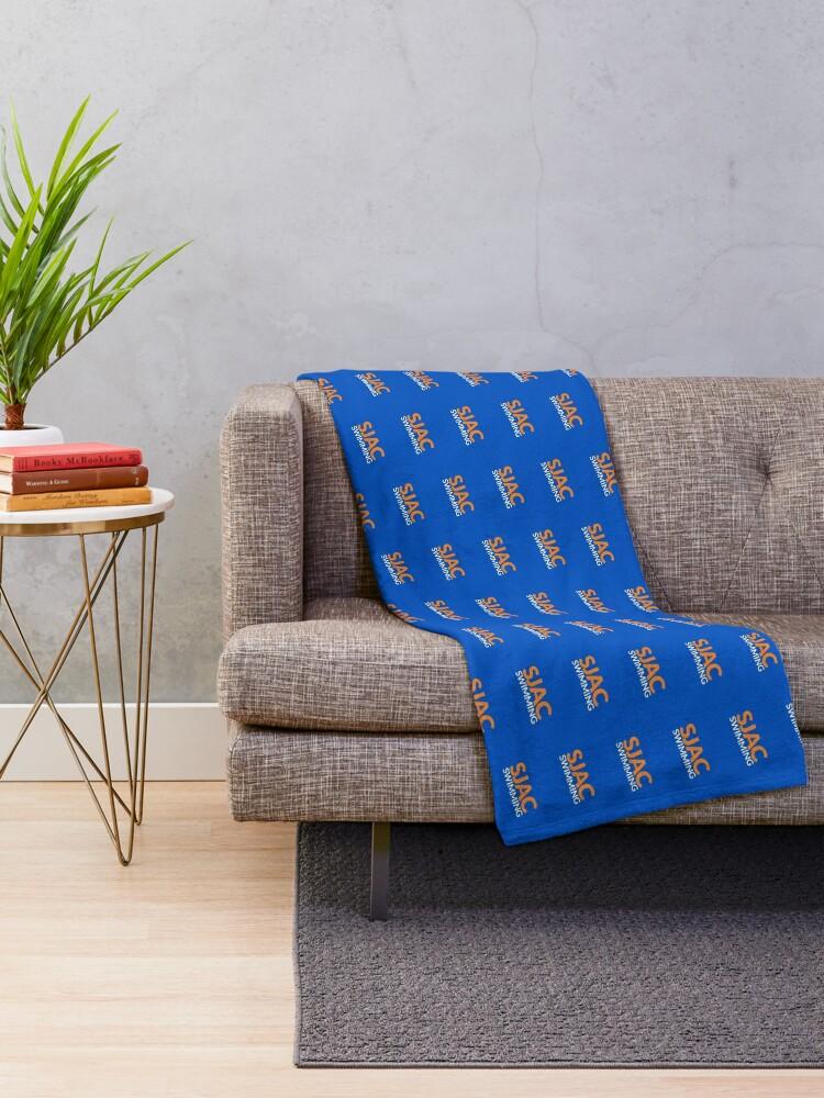 Alternate view of SJAC Pattern Royal Throw Blanket